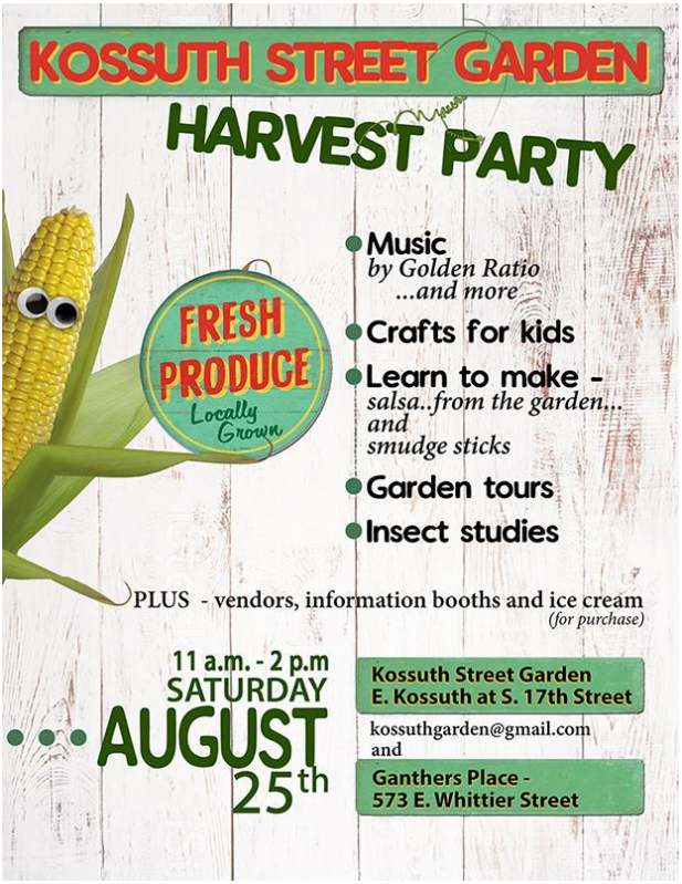 Kossuth Street Garden Harvest Party