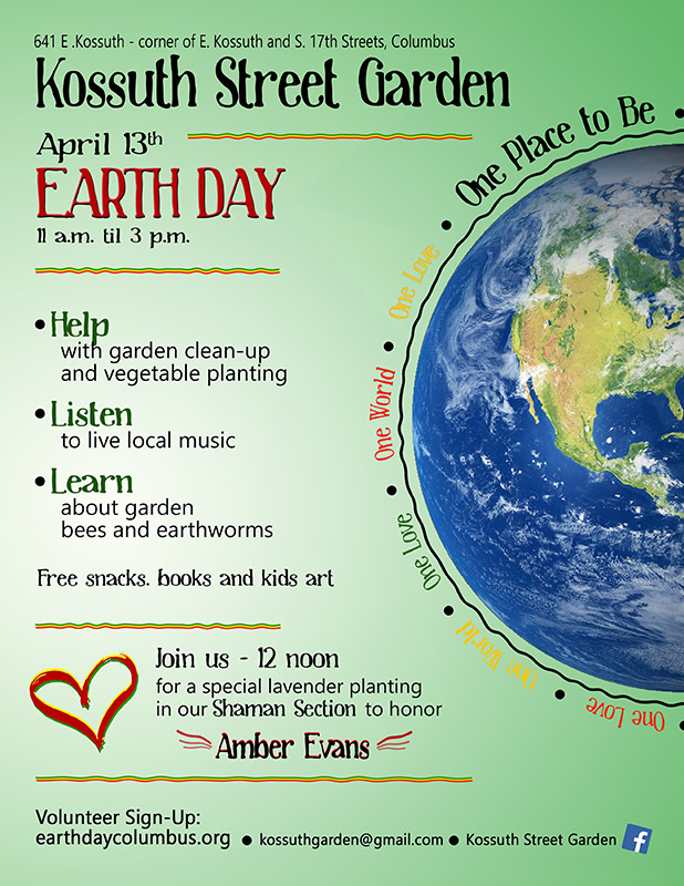 Kossuth Street Garden Earth Day Celebration